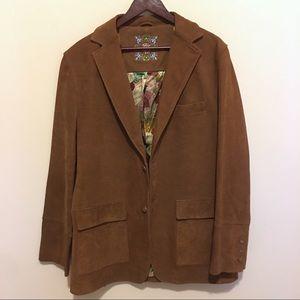 Robert Graham Brown Suede Silk Lined Sportcoat